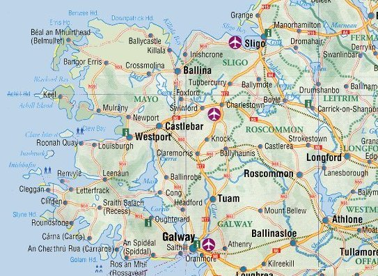 Ireland Maps Free And Dublin Cork Galway - Cities map of ireland